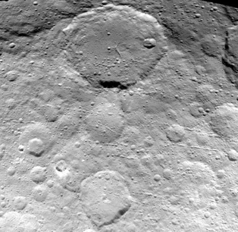 The surface of Ceres in the most detail shot yet.