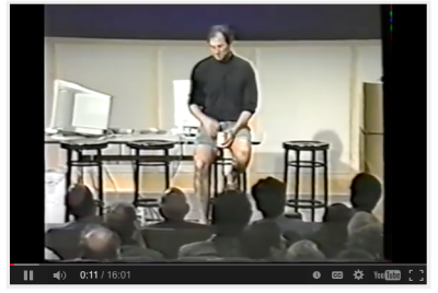 Jobs introduces Think Different in 1997