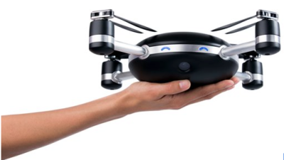 The Lily is a self flying drone that pairs with a small, wearable beacon it follows to capture footage