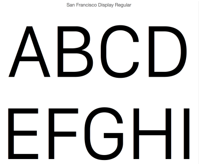Apple may be about to change its Mac and iOS display font to its own San Francisco, which is used on Apple Watch