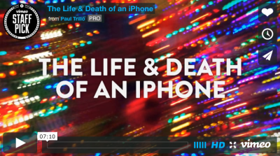 A short film follows the life and rebirth of an iPhone.