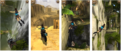 Lara Croft: Relic Run is free, and still compatible with iPhone 4, iPhone 4S, iPad Mini 1, iPad 2