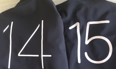 This years WWDC developer jacket is set in the new Apple San Francisco font which will hopefully be the new OS font.