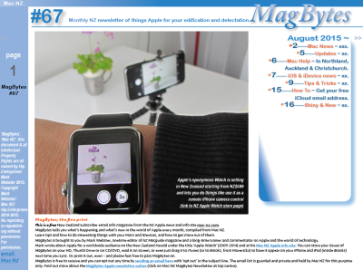 MagBytes #67 is out tonight – as you can see by the unfinished Contents strip, I'm still woking on it.