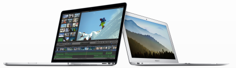 Mac laptops still rising in sales (image from Apple NZ).