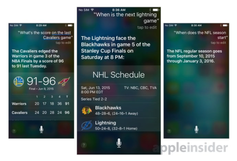 Siri got a new brain in iOS 9 (image from Apple Insider)