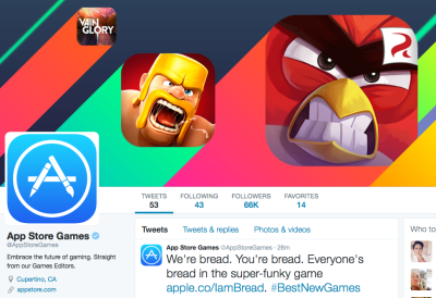 Apple has launched a new App Store twitter account.