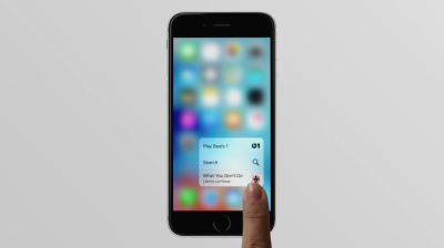 (Image from Apple's film on 3D Touch)