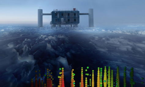 Neutrinos going through the arctic generate staggering loads of data (image from Motherboard)