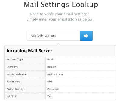 Apple has a page that lets you check your email settings online.