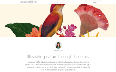 Apple has begun and online, and in-Store, Start Something New campaign to promote digital art creation.