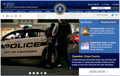 Image — the FBI's home page