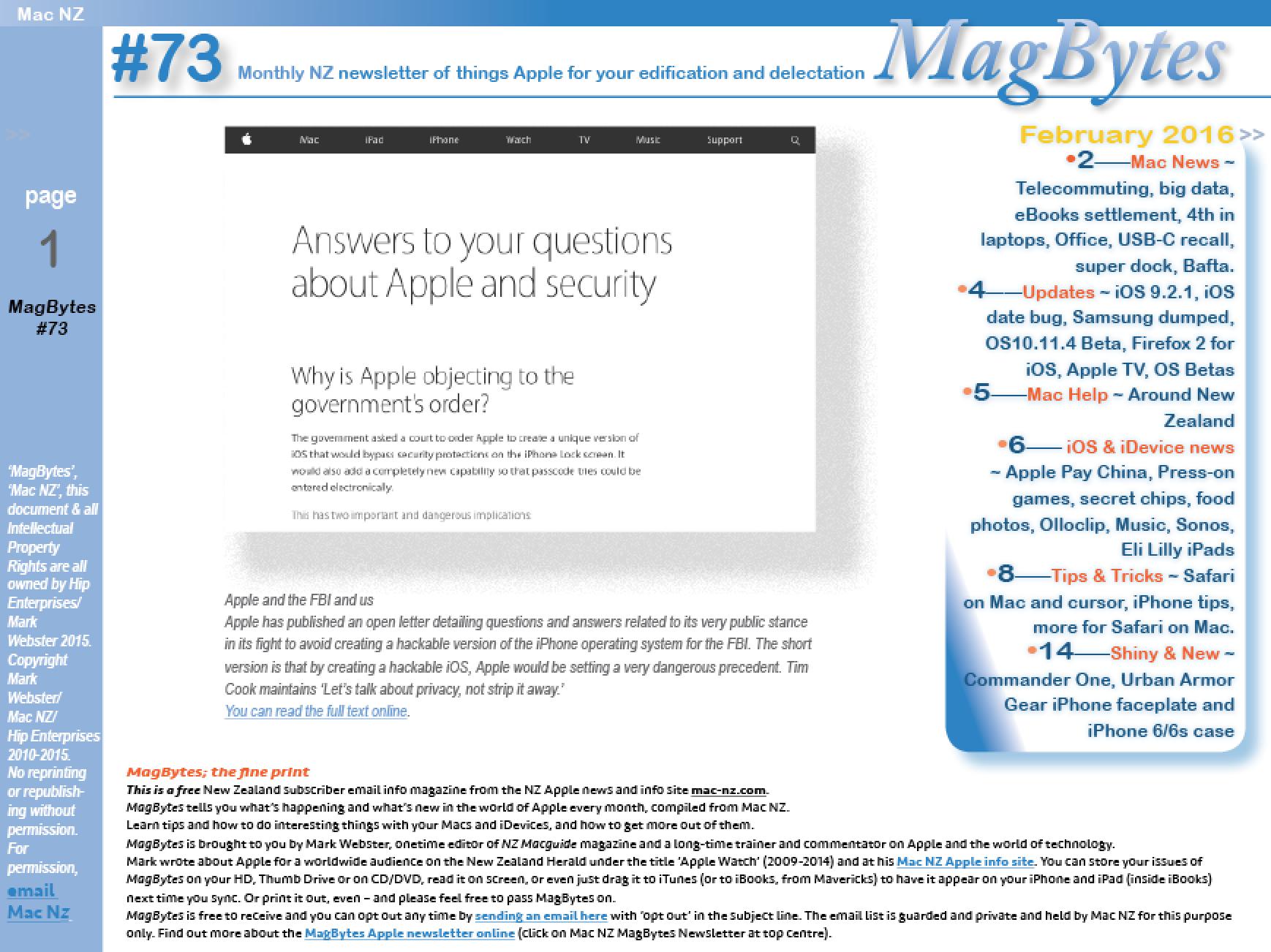 apple computers - Magazine cover