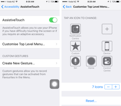 Why not build your own custom on-screen buttons for iPhone and iPad?