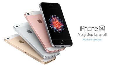 Apple's latest, little iPhone (image from Apple's NZ iPhone se page)