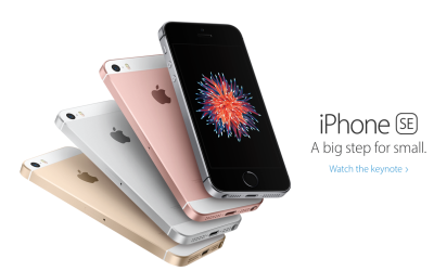 (Image from Apple NZ's iPhone SE page)