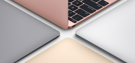 Image of Apple's new MacBook, from Apple's MacBook page.