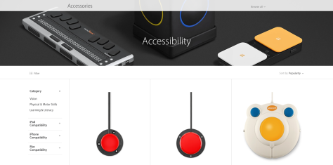 Apple has added an Accessibility destine to its online Store.