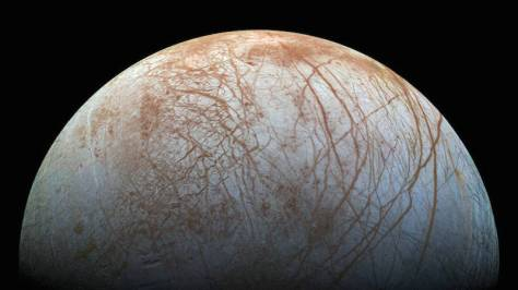 Europa's strange surface (Image:NASA/JPL-Caltech/SETI Institute)