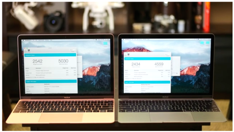 The new MacBook shows marginal speed improvements
