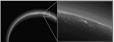 A photo of Pluto revealed an odd glowing patch