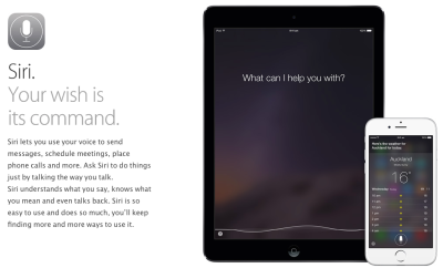 (Image from Apple's Siri page)