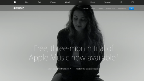 Apple Music is accessed under the For You tab in Music in iTunes. (Image from Apple's music site which tells you more about the service.)