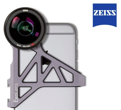 The US $250 ExoLens Pro Telephoto Kit has Optics by ZEISS