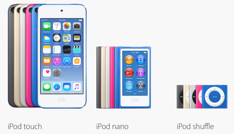 (Image from Apple's iPod page)