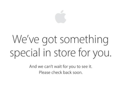 Apple's Store page during the announcements ...