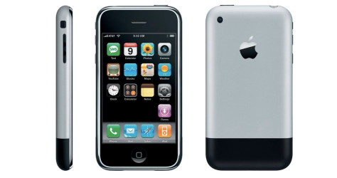 The original iPhone of 2007 looks rather cute and cuddle by today's standards (image from the Verge)