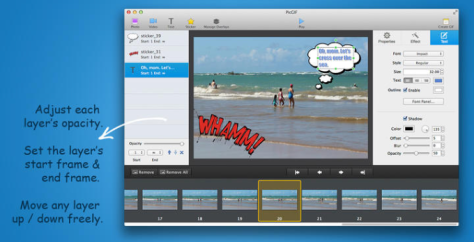 PicGIF makes it easy to control and create GIFs