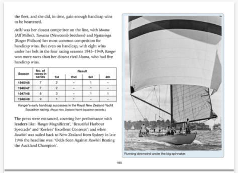 A brand new book in iBooks features the story of New Zealand yacht racing legend Ranger