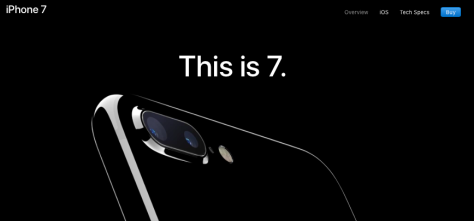 (Image from Apple Inc's iPhone 7 page)